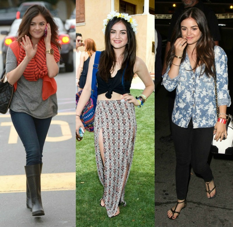 Lucy Hale Style Collage